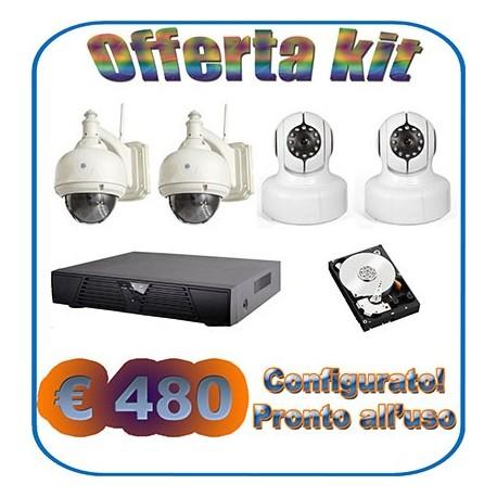 Kit NVR + 2 interno + 2 esterno